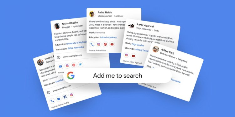 Google tests new profile cards that let you add yourself to search results