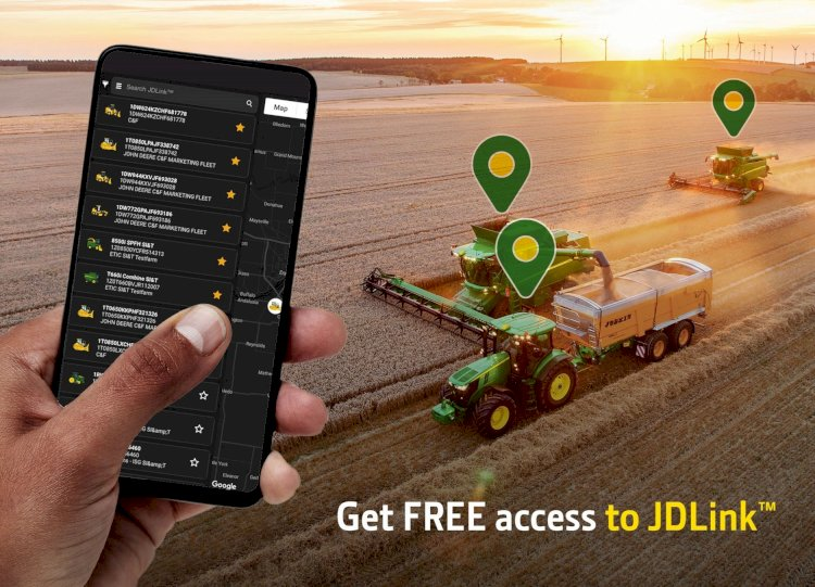 John Deere now offers JDLink™ connectivity service at no additional charge.